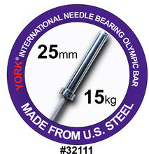 Load image into Gallery viewer, YORK Women's North American Chrome Olympic Training Weight Bar