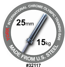 Load image into Gallery viewer, YORK Women's International Chrome Olympic Training Weight Bar