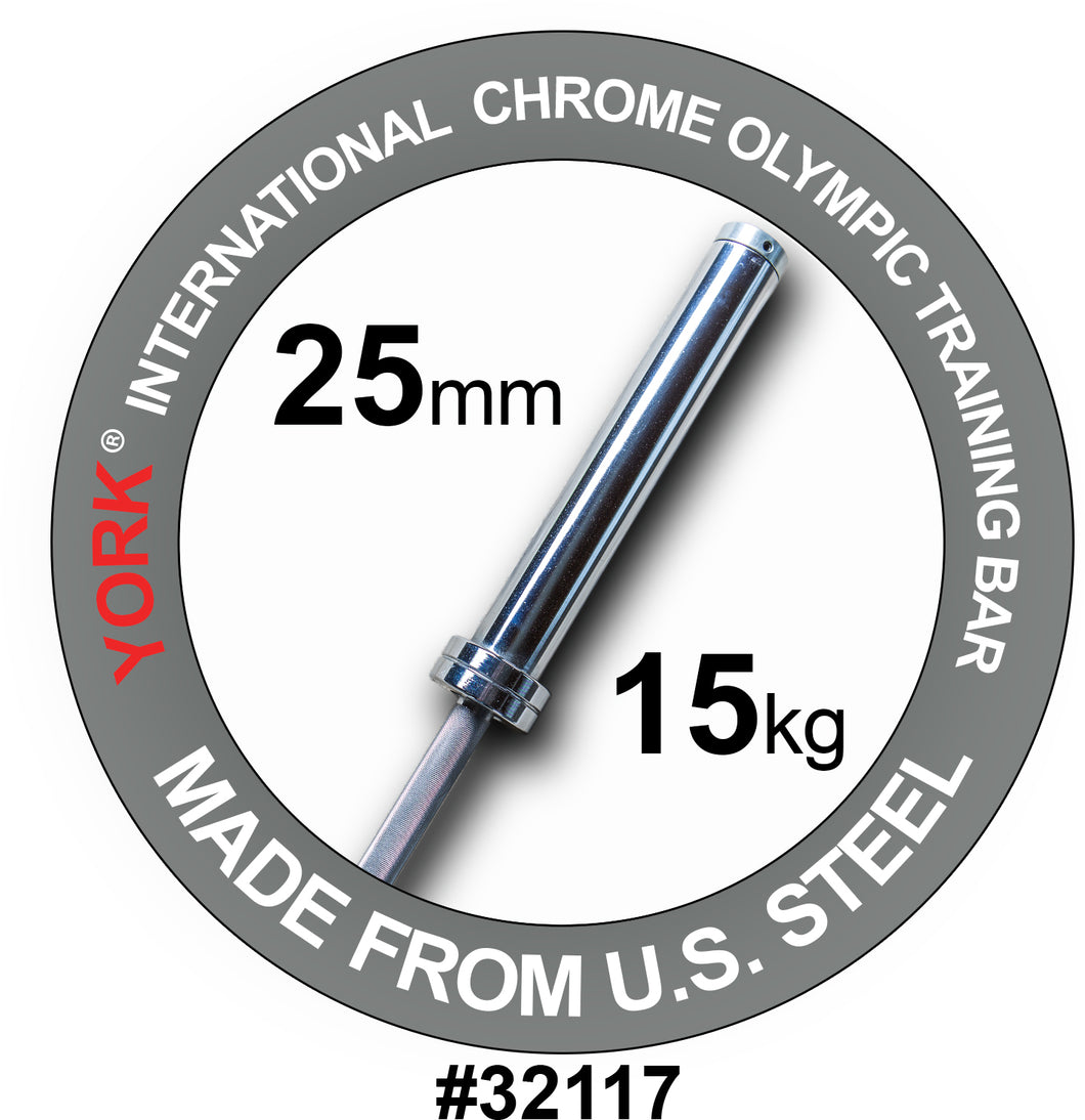YORK Women's International Chrome Olympic Training Weight Bar