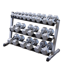 "Load image into Gallery viewer, BODY SOLID 48"" 3-Tier Dumbbell Rack"