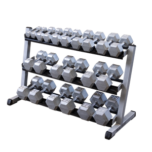 "BODY SOLID 48"" 3-Tier Dumbbell Rack"