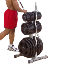 Load image into Gallery viewer, Body-Solid Olympic Plate Tree & Bar Holder
