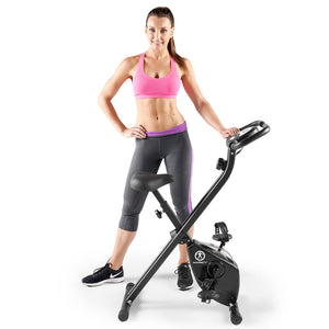 Marcy Foldable Bike in Black | NS-654