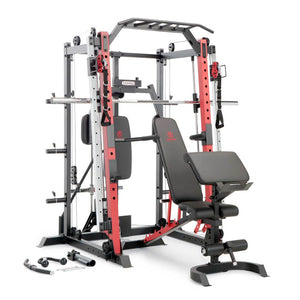 ( PRE SALE  IN STOCK SEPT-15-23 ) Marcy Smith Machine / Cage System with Pull-Up Bar and Landmine Station | SM-4033
