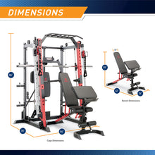 Load image into Gallery viewer, ( PRE SALE  IN STOCK SEPT-15-23 ) Marcy Smith Machine / Cage System with Pull-Up Bar and Landmine Station | SM-4033