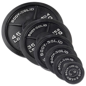 "Body Solid 2"" Black Cast Iron Olympic Plates - Each"