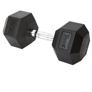 YORK  Rubber Hex Dumbbells