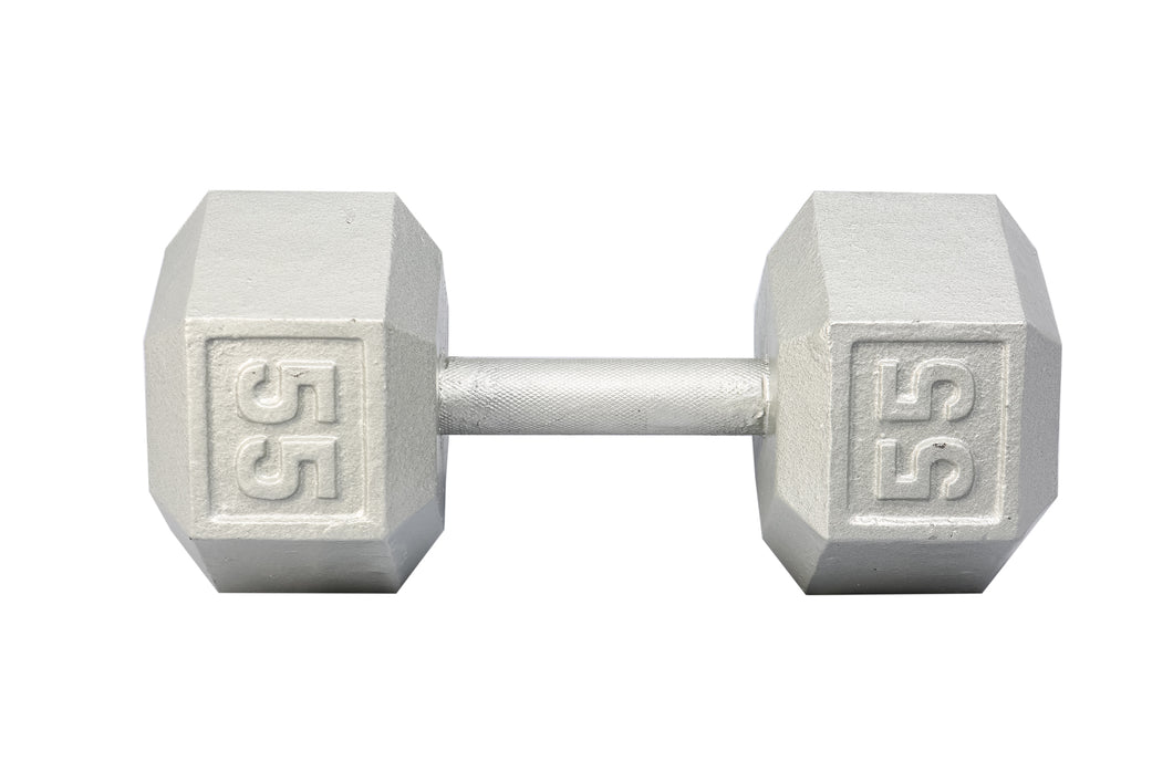 YORK Cast Iron Hex Dumbbell