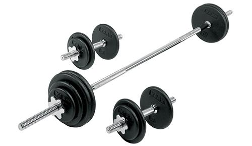York 110 lb Pro Spin Lock weight plate Set