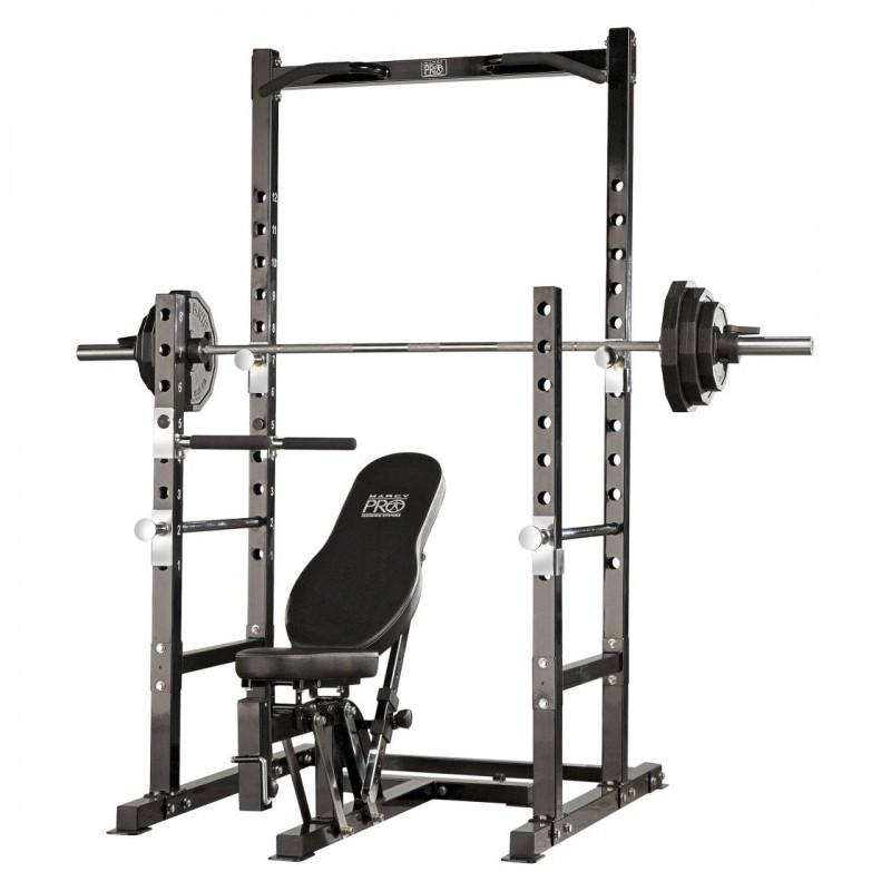 MARCY POWER RACK AND BENCH COMBO
