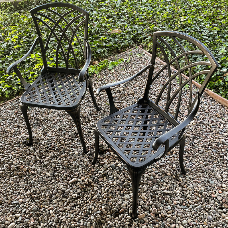 Lily Dining Chair Set in Antique Bronze