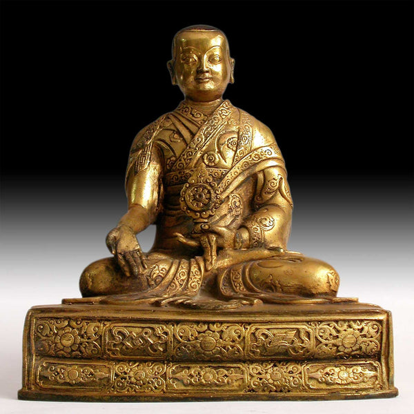Antique Gilt Bronze Medicine Buddha Bhaisajyaguru Eight Brothers Lama Rinpoche Statue 藥師佛