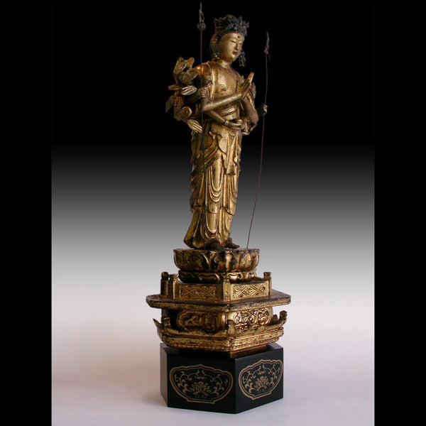Edo Thousand-armed Senju Kannon Bosatsu Japanese Carved Guan Yin Wood Buddha statue 千手觀音