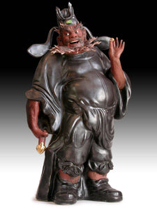 Jingdezhen Art Institute Large Ceramic Demon Queller Zhong Kui Statue 景德镇鍾馗