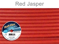 Soft Flex 49 Strand .019 Inch Diameter, 30 feet Beading Wire, Red Jasper. (Sold as - 1 Spool Per Pack)