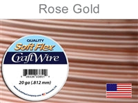 Soft Flex 20 Gauge Craft Wire, Rose Gold. (Sold as - 1 Spool Per Pack)
