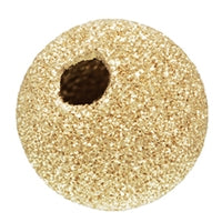 Gold Filled 10.0mm Stardust Round Bead. Sold as - 2 Pieces Per Pack