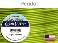 Soft Flex 28 Gauge Craft Wire, Peridot. (Sold as - 1 Spool Per Pack)