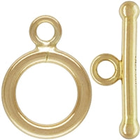 Gold Filled 9.0mm Plain Toggle With Ball End Bar. Sold as - 2 Sets Per Pack