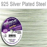 Soft Flex 19 Strand .024 Inch Diameter, 50 feet Extreme Flex Wire, Silver Plated Steel. (Sold as - 1 Spool Per Pack)