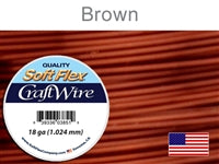 Soft Flex 18 Gauge Craft Wire, Brown. (Sold as - 1 Spool Per Pack)