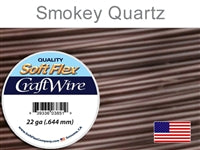 Soft Flex 22 Gauge Craft Wire, Smoky Quartz. (Sold as - 1 Spool Per Pack)