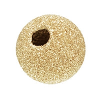 Gold Filled 7.0mm Stardust Round Bead. Sold as - 6 Pieces Per Pack