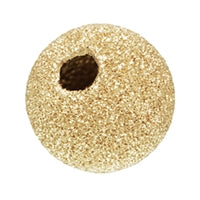 Gold Filled 8.0mm Stardust Round Bead. Sold as - 4 Pieces Per Pack