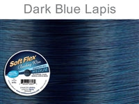 Soft Flex 49 Strand .019 Inch Diameter, 100 feet Beading Wire, Dark Blue Lapis. (Sold as - 1 Spool Per Pack)