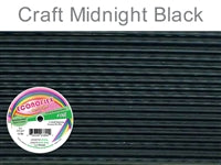 Econo Flex 7 Strand .014 Inch Diameter, 30 feet Beading Wire, Midnight Black. (Sold as - 1 Spool Per Pack)