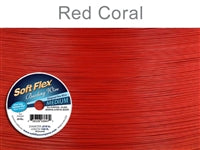 Soft Flex 49 Strand .019 Inch Diameter, 100 feet Beading Wire, Red Coral. (Sold as - 1 Spool Per Pack)