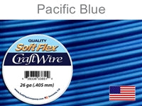 Soft Flex 26 Gauge Craft Wire, Pacific Blue. (Sold as - 1 Spool Per Pack)