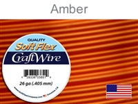 Soft Flex 26 Gauge Craft Wire, Amber. (Sold as - 1 Spool Per Pack)