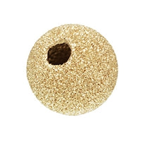 Gold Filled 6.0mm Stardust Round Bead. Sold as - 10 Pieces Per Pack