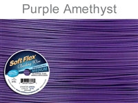 Soft Flex 49 Strand .019 Inch Diameter, 30 feet Beading Wire, Purple Amethyst. (Sold as - 1 Spool Per Pack)