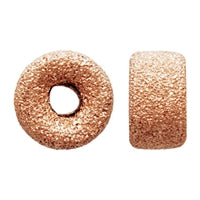 Gold Filled - Rose Gold 8.0mm Stardust Roundel Bead. Sold as - 4 Pieces Per Pack