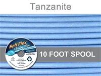 Soft Flex 49 Strand .019 Inch Diameter, 10 feet Beading Wire, Tanzanite. (Sold as - 1 Spool Per Pack)