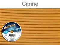 Soft Flex 49 Strand .019 Inch Diameter, 100 feet Beading Wire, Citrine. (Sold as - 1 Spool Per Pack)