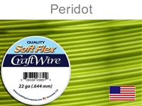 Soft Flex 22 Gauge Craft Wire, Peridot. (Sold as - 1 Spool Per Pack)