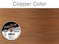 Soft Flex 49 Strand .024 Inch Diameter, 30 feet Beading Wire, Copper Color. (Sold as - 1 Spool Per Pack)