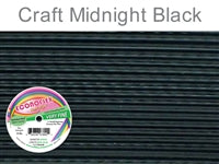 Econo Flex 7 Strand .010 Inch Diameter, 30 feet Beading Wire, Midnight Black. (Sold as - 1 Spool Per Pack)