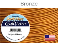 Soft Flex 26 Gauge Craft Wire, Bronze. (Sold as - 1 Spool Per Pack)