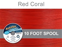 Soft Flex 49 Strand .019 Inch Diameter, 10 feet Beading Wire, Red Coral. (Sold as - 1 Spool Per Pack)
