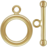 Gold Filled 12.0mm Plain Toggle With Ball End Bar. Sold as - 2 Sets Per Pack