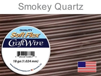 Soft Flex 18 Gauge Craft Wire, Smoky Quartz. (Sold as - 1 Spool Per Pack)