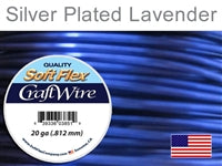 Soft Flex 20 Gauge Craft Wire, Silver Plated Lavender. (Sold as - 1 Spool Per Pack)