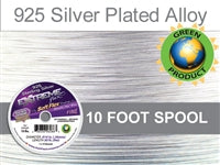 Soft Flex 19 Strand .014 Inch Diameter, 10 feet Extreme Flex Wire, Silver Plated. (Sold as - 1 Spool Per Pack)
