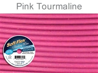 Soft Flex 49 Strand .019 Inch Diameter, 30 feet Beading Wire, Pink Tourmaline. (Sold as - 1 Spool Per Pack)