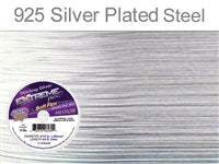 Soft Flex 19 Strand .019 Inch Diameter, 50 feet Extreme Flex Wire, Silver Plated Steel. (Sold as - 1 Spool Per Pack)