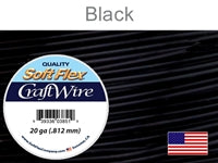 Soft Flex 20 Gauge Craft Wire, Black. (Sold as - 1 Spool Per Pack)